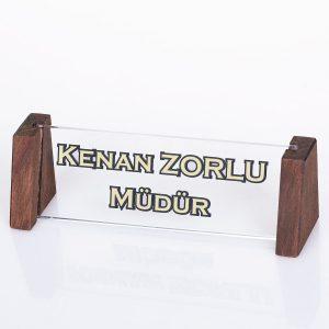 Kişiye Özel Kristal Masa İsimliği Ofis Hediyesi İsimlik
