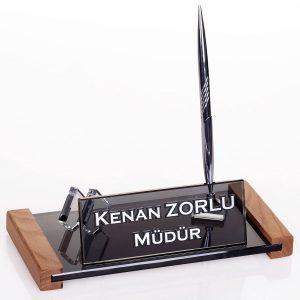 Kristal Kartvizitlik Tutacaklı Masa İsimliği Ofis Masa İsimlik Hediye Masa İsimliği