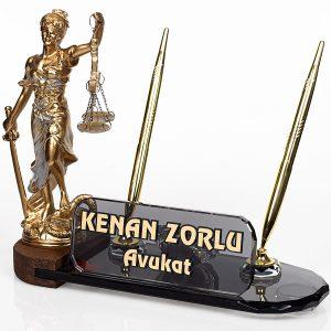 Avukatlar Günü Hediye Masa İsimliği Ofis Seti